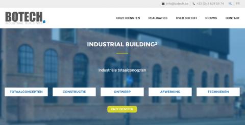 Botech - nieuwe website